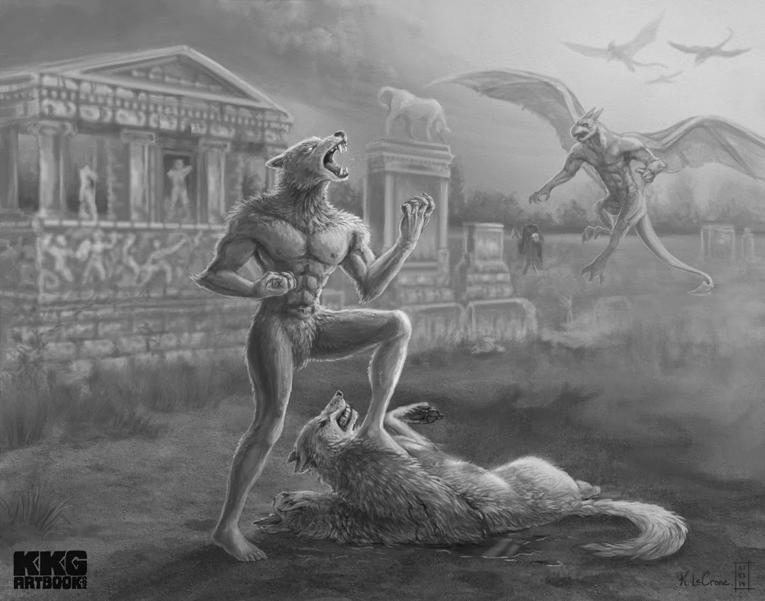 K. LeCrone's Blog: Altered Beast Fan Art For A Great Cause
