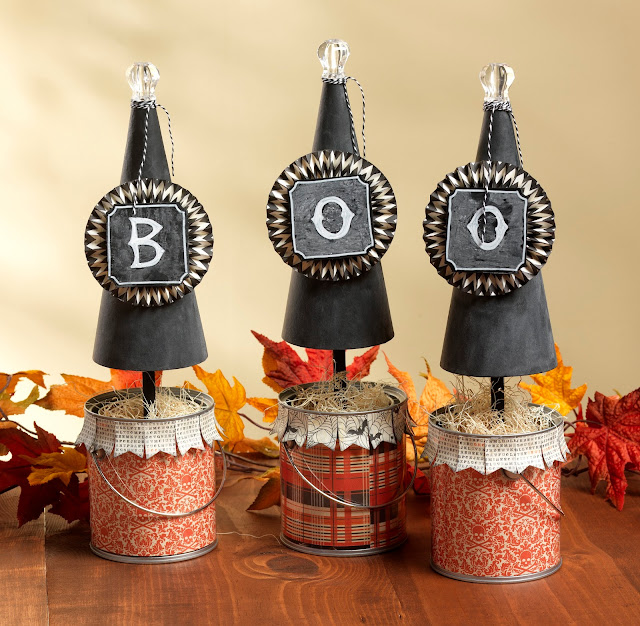 Boo Cones @craftsavvy @sarahowens #craftwarehouse #halloween #diy #party #decoration