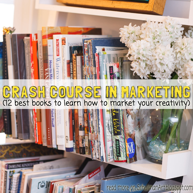 12 best books in marketing your creativity for entrepreneurs http://schulmanart.blogspot.com/2015/12/crash-course-in-marketing-your.html