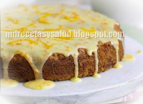 Receta de torta de naranja y zanahoria sin colesterol