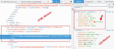 panduan memodifikasi atau merubah tampilan desain menu blog