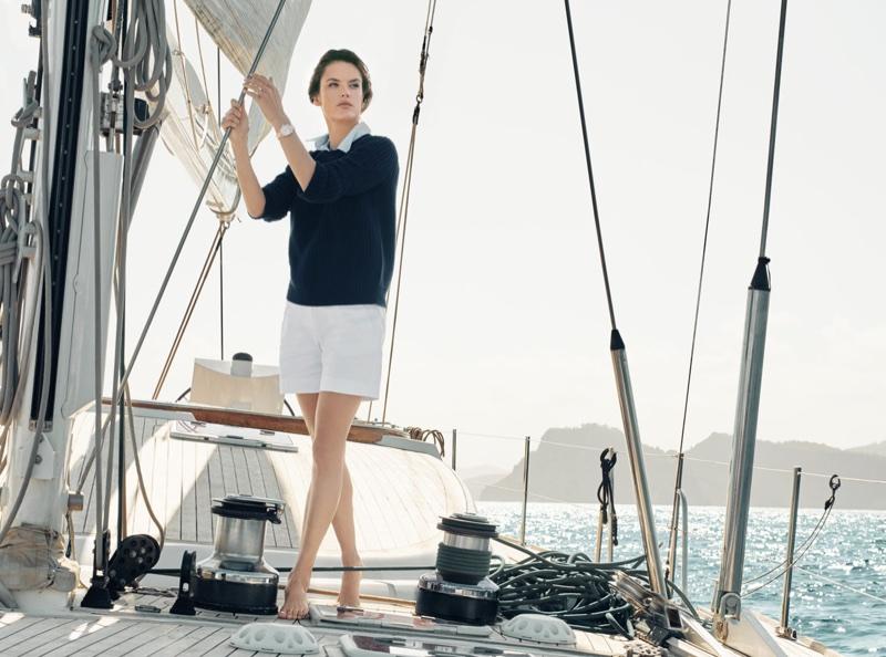 Omega Aqua Terra Campaign featuring Alessandra Ambrosio