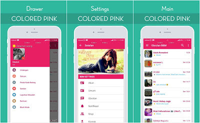 Download BBM Colored Pink v3.2.5.12 Update Apk Terbaru