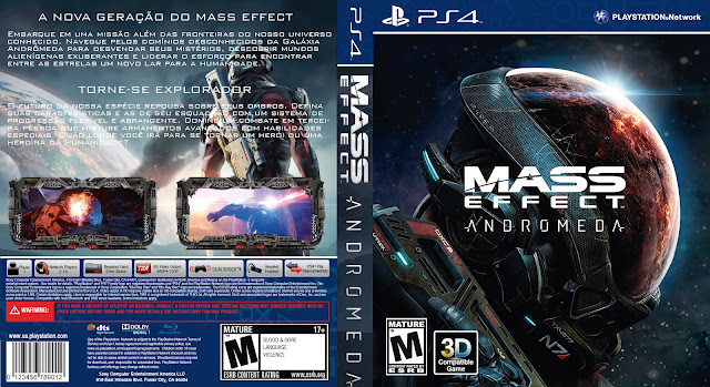 Capa Mass Effect Andromeda PS4 [Exclusiva]