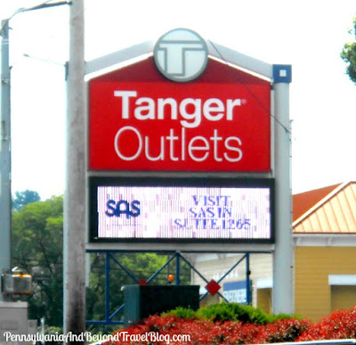 Shopping at the Tanger Outlets in Lancaster Pennsylvania
