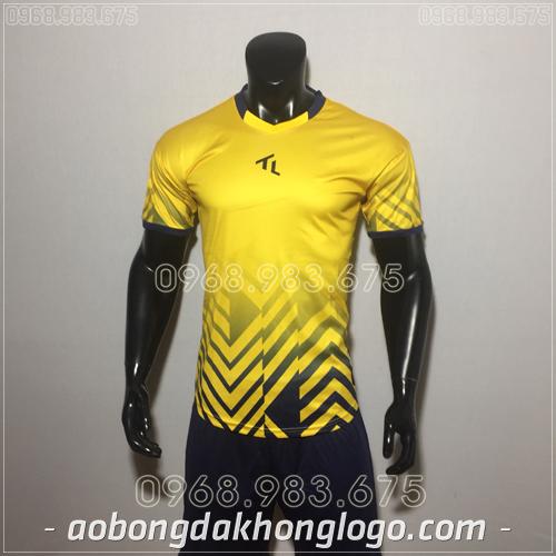 Áo bóng đá không logo TL Raki màu vàng