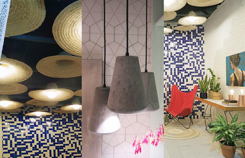 Chapéu como lâmpada, lâmpada de cimento, parede com azulejo... Qual a sua ideia favorita?!