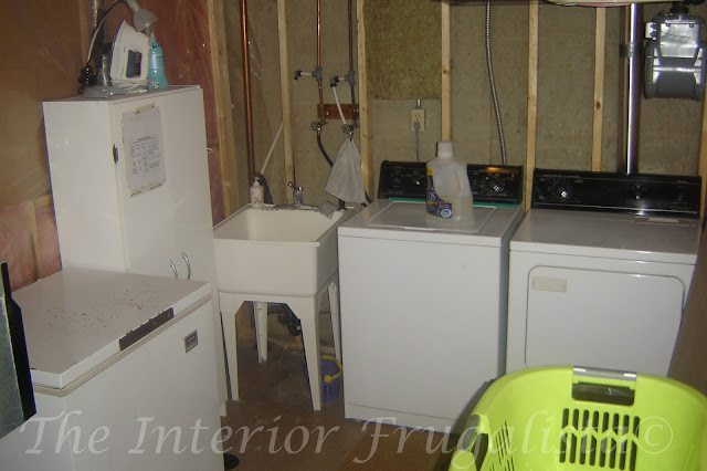 Basement Laundry Room Before Makeover