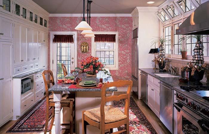 vintage tarzı mutfak duvar kağıdı çeşitleri