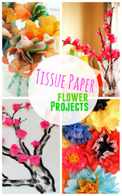 Creative and colorful Tissue Paper Flower Projects for Kids- Easy, affordable, and fun ways to be creative!