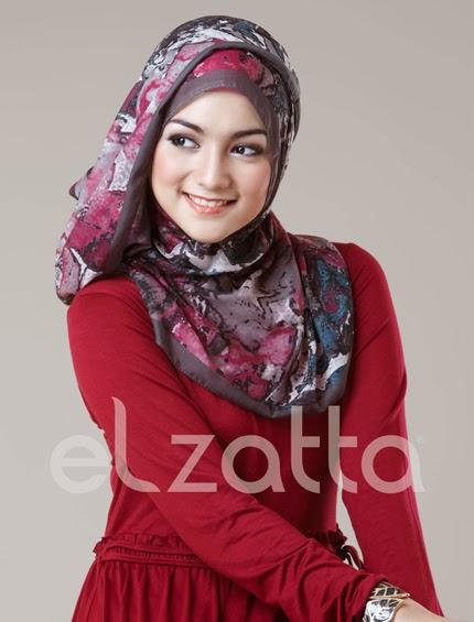 Koleksi Hijab Elzatta Segi Empat Terbaru Model Jilbab