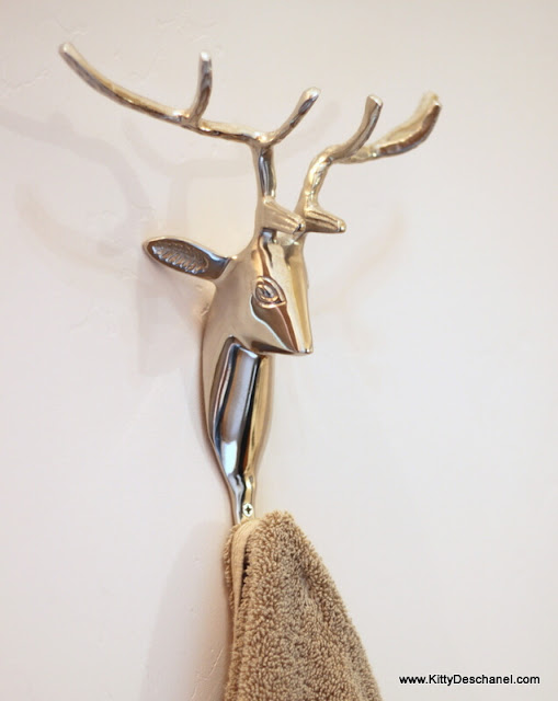 deer head towel holder