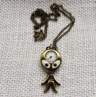 alien watch necklace