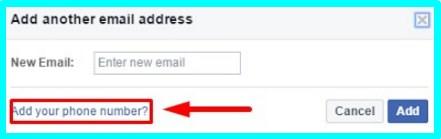 facebook login phone number change