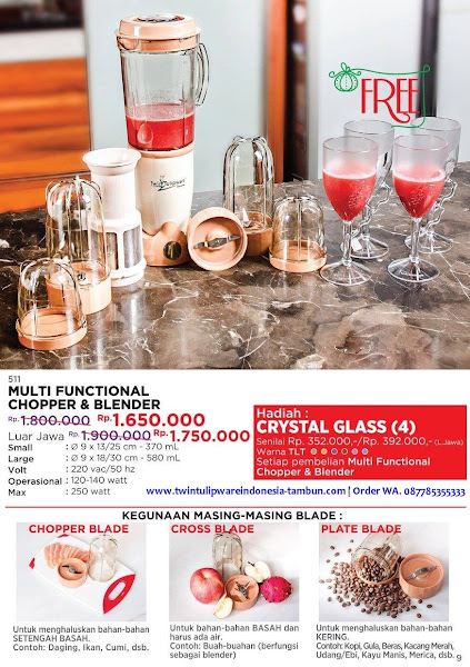 Promo Diskon Desember 2017, Multi Functional Chopper Blender