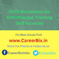 OAVS Recruitment for 1090 Principal, Teaching Staff Vacancies