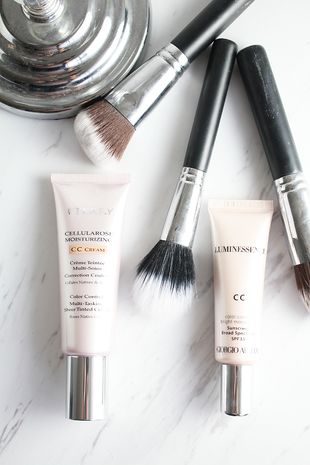 what is cc cream, By Terry  Cellularose Moisturizing CC Cream,  Giorgio Armani Luminessence CC Color Control Bright Moisturizer SPF 35, review, swatch