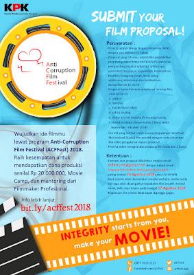 Poster Lomba Film Pendek Nasional ACFFest 2018 oleh KPK