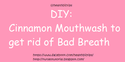 DIY: Cinnamon Mouthwash to get rid of Bad Breath