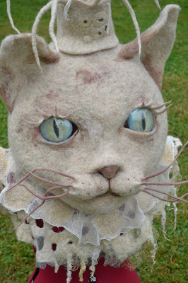 big fairy fellt cat head by cathy Vagnon