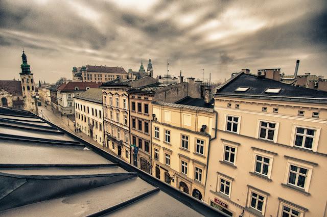 Vista sui tetti di Cracovia