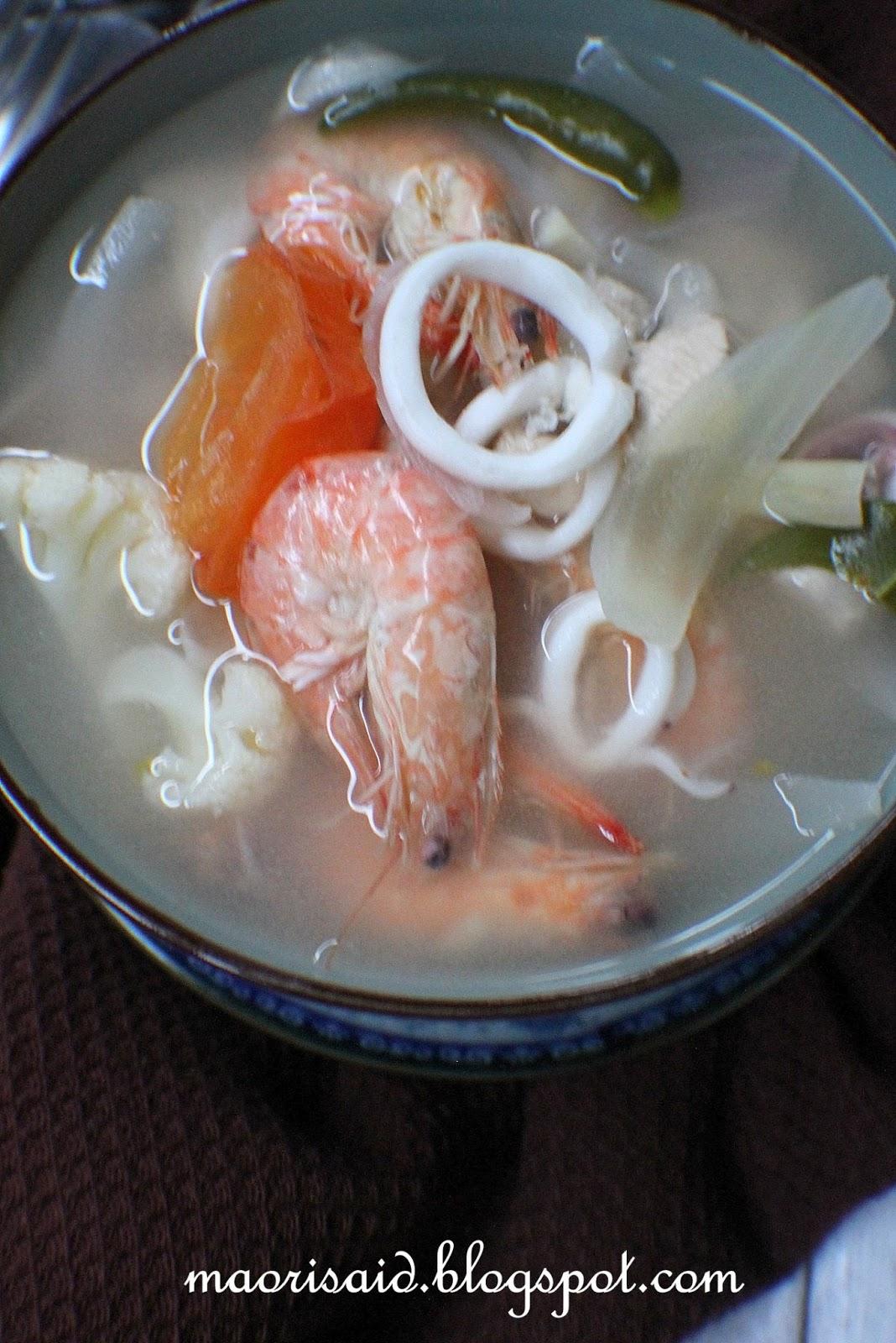 Resepi Tom Yam Seafood Azie Kitchen