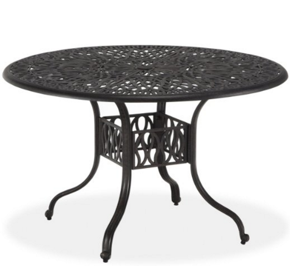 Round Aluminum Outdoor Table, Home Styles Floral Blossom Round Dining Table