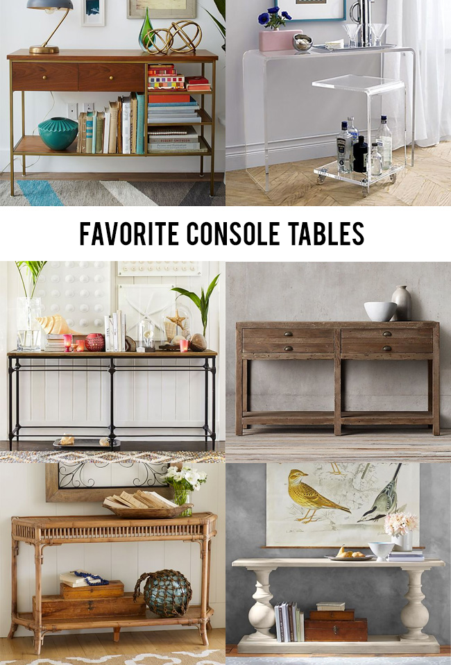Six Stylish Console Tables // Bubby and Bean
