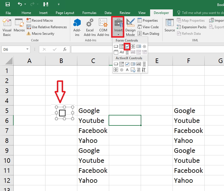 Learn New Things How To Add Check Boxes In Ms Excel Sheet Easy