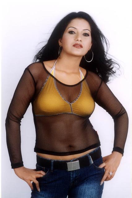Malayalam Posters Actress Rithika In Transparent -Bra -3811