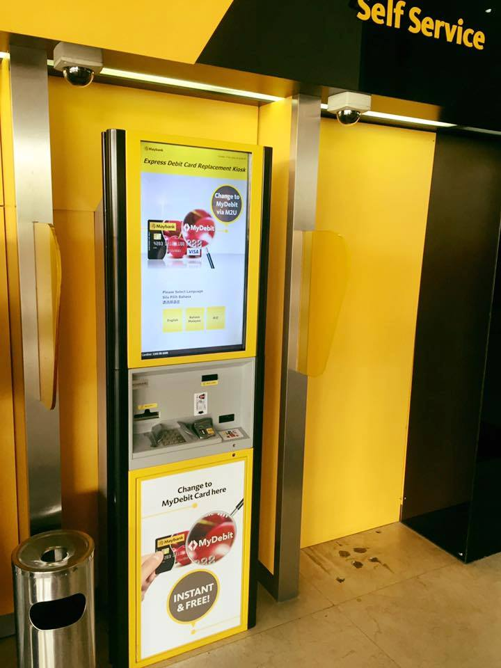 how to change maybank atm card to debit card