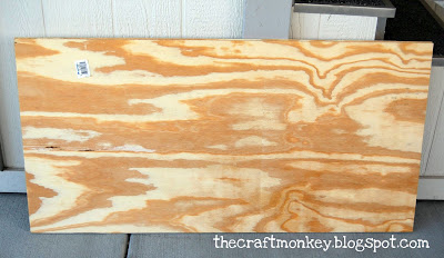 Blank piece of plywood