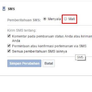 cara berhenti sms facebook 32665 AE