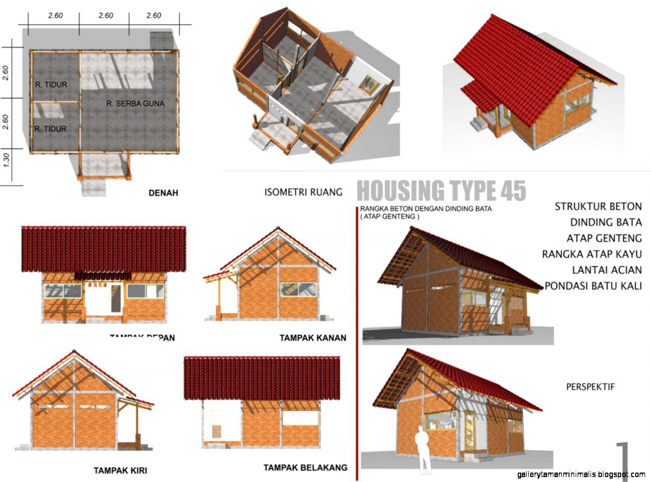 Denah Rumah Kayu Sederhana Desain Rumah Minimalis Terbaru Tahun Ini