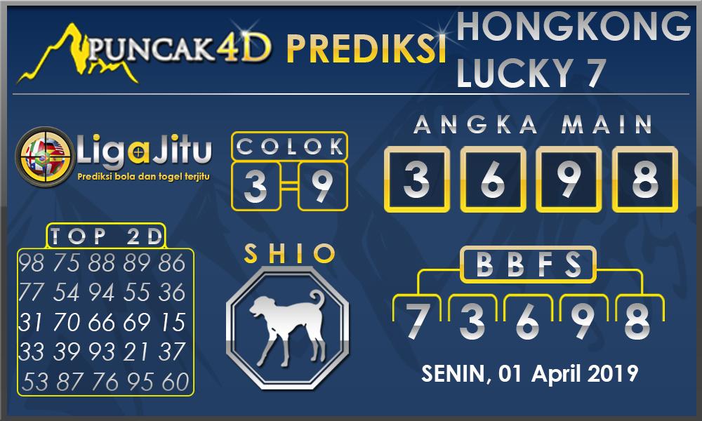 PREDIKSI TOGEL HONGKONG LUCKY7 PUNCAK4D 01 APRIL 2019
