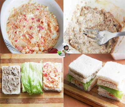 Nigerian Salad Sandwich, Nigerian Sandwich, nigerian food tv recipes