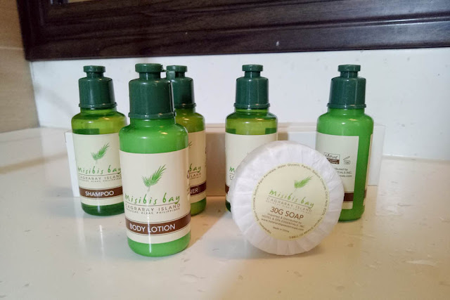 Toiletries of Misibis Bay Resort