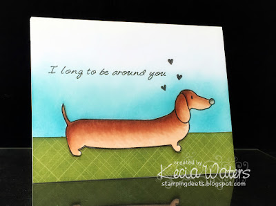 Urban Stamps, Kecia Waters, dachshund, Copic markers