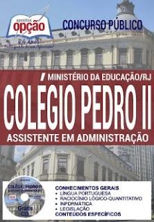 Apostila Colégio Pedro II Assistente em Administração 2017