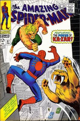 Amazing Spider-Man #57, Ka-Zar and Zabu