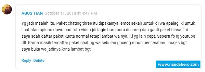 Paket Chatting Tri (3) Tidak Bisa di STOP!
