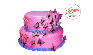 Gorgeous Butterfly Tier Cake - 5Kg