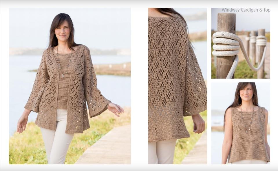 Windway Cardigan and Matching Top Crochet Pattern