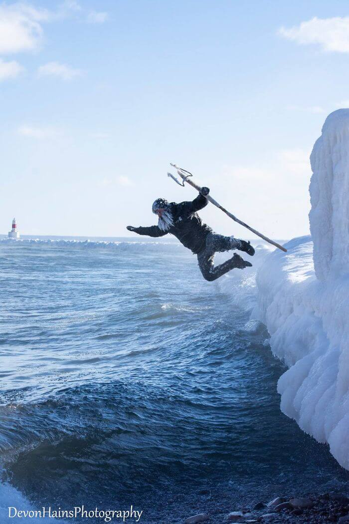 This Is What Happened When A Surfer Attempted To Go Surfing During The Polar Vortex