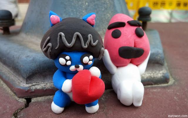 Emoticonos coreanos de plastilina