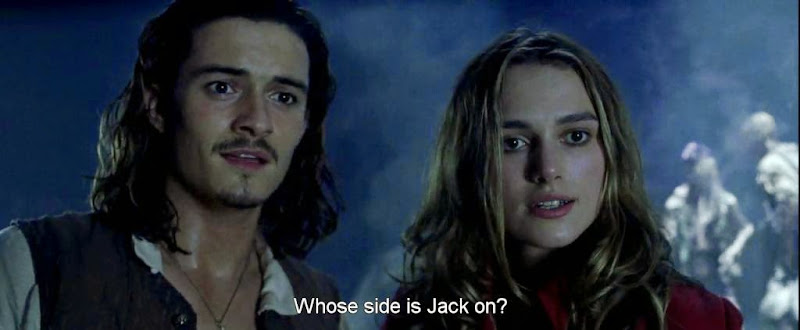 Screen Shot Of Hollywood Movie Pirates of the Caribbean The Curse of the Black Pearl (2003) In Hindi English Full Movie Free Download And Watch Online at worldfree4u.com