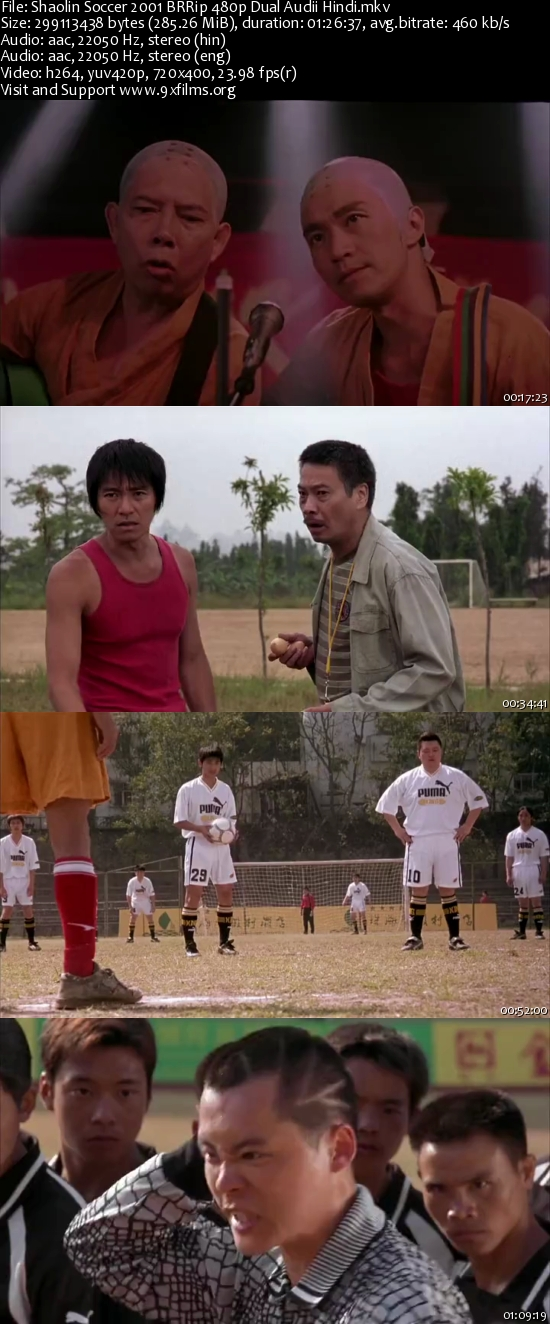 Shaolin Soccer 2001 BRRip 480p Dual Audio Hindi