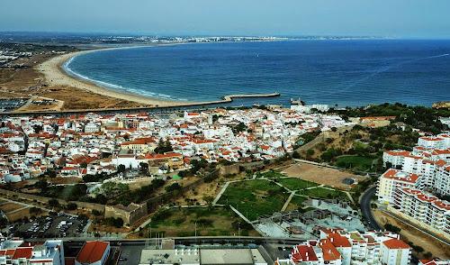 imagem aérea de Lagos – Portugal