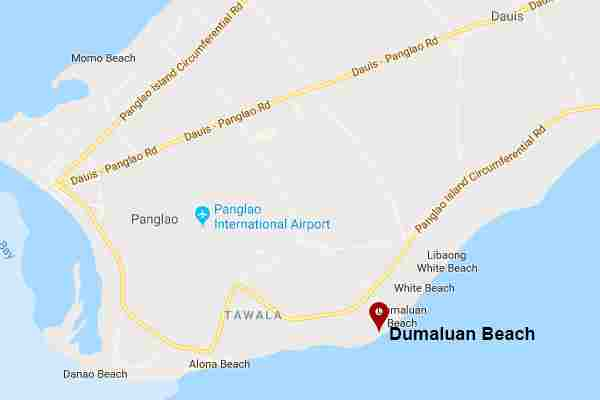 Best, peaceful and Famous tourist spots  long white beach in Dumaluan panglao bohol philippines 2018 Map
