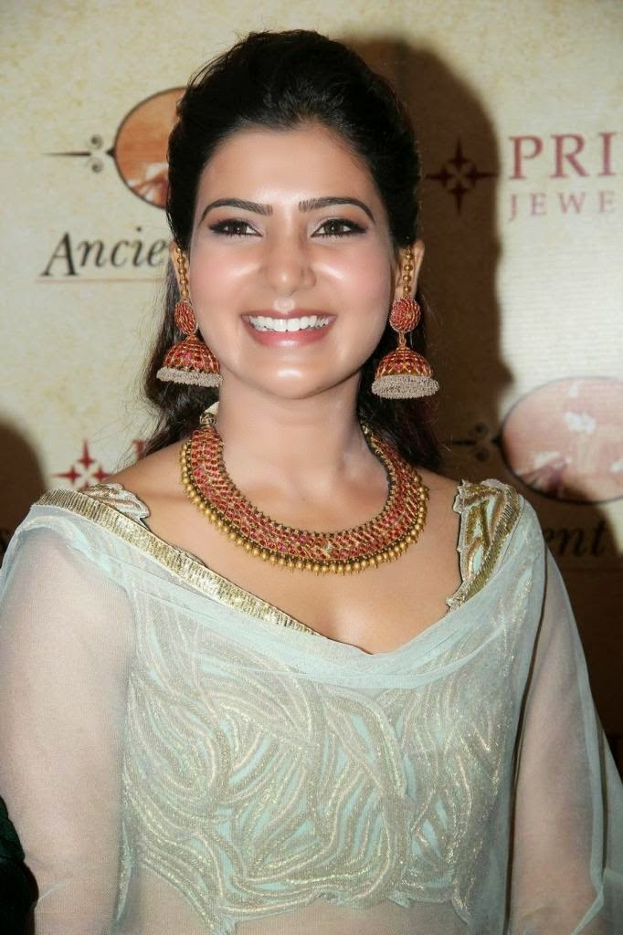 Samantha Hot Navel Hip Images In Green Dress